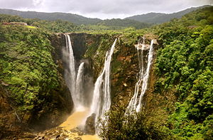Mungaru Male - Jog Falls in Sagara, Karnataka, India, where a few sequences of the film were shot.