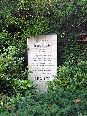 Johannes R. Becher - Becher's grave in Berlin