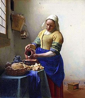 Dutch cap - Image: Johannes Vermeer De melkmeid