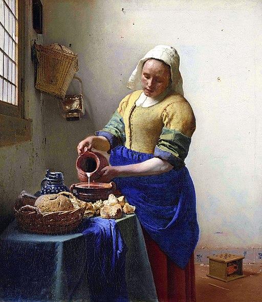 Johannes Vermeer - De melkmeid