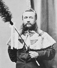 John Adams Cummins as kahili bearer.jpg