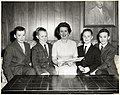 John Collins Jr., Mary Collins, and Thomas Collins in center, with two unidentified boys (11071872485).jpg