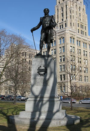 John Graves Simcoe - Statue of John Graves Simcoe first Lieutenant-Governor of Upper Canada by Walter Seymour Allward 1903 Queen's Park (Toronto)