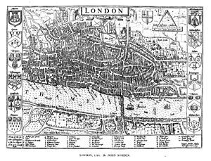 John Norden -  Large version of the London map