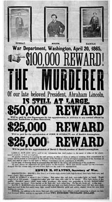 J.W. Booth wanted poster