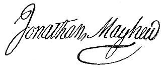 Jonathan Mayhew - Image: Jonathan Mayhew signature