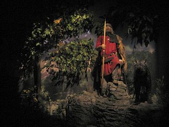 "Jorvik Viking Centre - ""Wilkom in Jorvik"" says the Viking at the start of the Time Warp Ride"