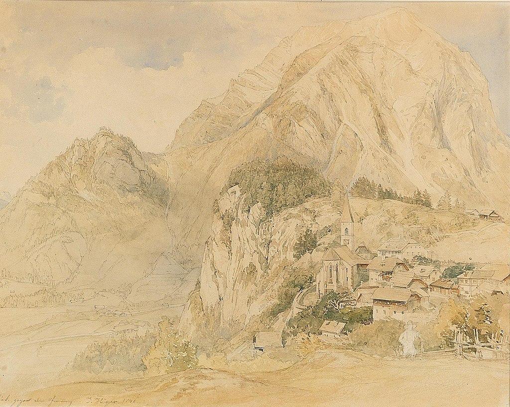 Joseph Höger - A view of Zermatt and Matterhorn.jpg