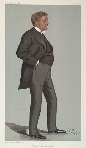 "Joseph Hodges Choate - ""United States Embassy"". Caricature by Spy published in Vanity Fair in 1899."