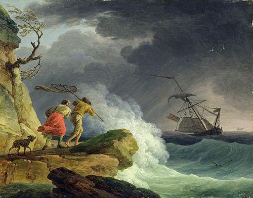 Joseph Vernet - Côte dans une tempête