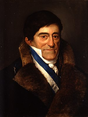 Juan Ruiz de Apodaca, 1st Count of Venadito - Portrait by Antonio María Esquivel (1834).