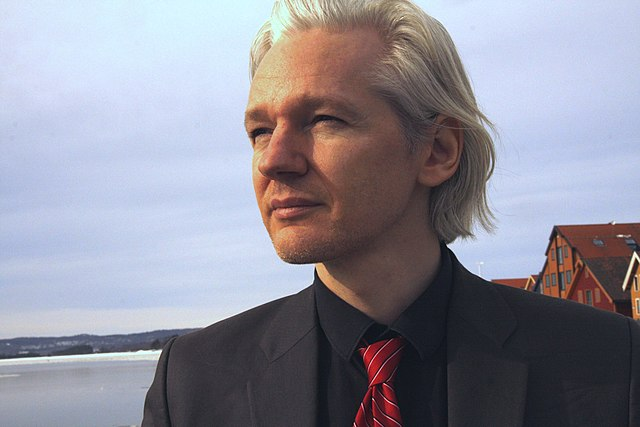 From commons.wikimedia.org: Julian Assange {MID-296669}