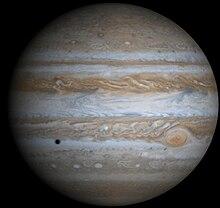 Jupiter photographiée par la sonde Cassini.