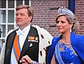 Just after the coronation at 30 April 2013, A happy couple. King Willem Alexander and Queen Maxima - panoramio.jpg