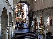 Justinuskirche Mittelschiff vom Orgelprospekt