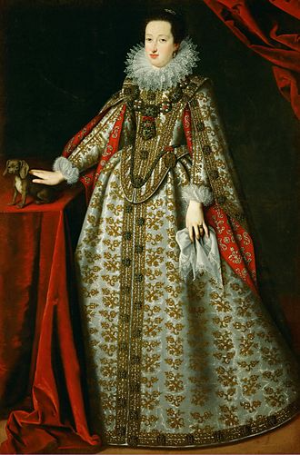 Eleonora Gonzaga (1598–1655) - Eleonora in her wedding dress, by Justus Sustermans, 1621/22. Kunsthistorisches Museum, Vienna.
