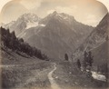 KITLV 100422 - Unknown - Path along a river in a mountain valley, probably in Kashmir in British India - Around 1870.tif