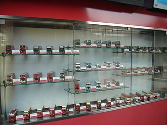 History of bus transport in Hong Kong - Collection of KMB bus models, from past to present.