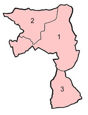 King's Norton and Northfield Urban District - Image: KN&NUD Parish Map