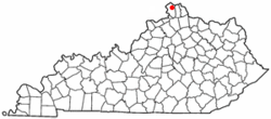 Location of Burlington, Kentucky