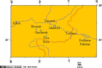 Battle of Tora Bora (2017) - Image: Kabul, Peshawar, and some cities in Nangarhar, Afghanistan 6