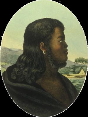 Kalanimoku - From a painting by Louis Choris