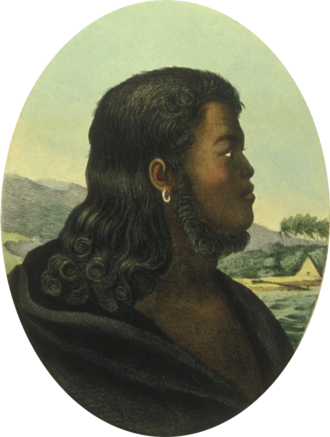 Kalanimoku - From a painting by Louis Choris