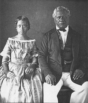 Victoria Kamāmalu - Victoria Kamāmalu and her father