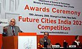 Kapil Sibal addressing at the Future Cities India 2020 Competition sponsored by Deptt. of Science & Technology and Bentley Systems, in New Delhi on January 19, 2008.jpg