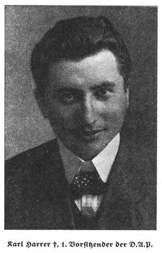 Karl Harrer - Image: Karl Harrer, 1. Vorsitzender der DAP