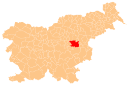 Location of the Municipality of Laško in Slovenia