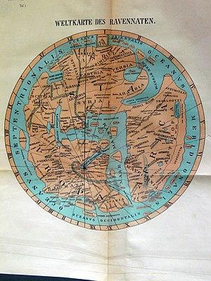 Ravenna Cosmography - Map based on Ravenna Cosmography