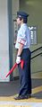 Keikyu Main Line station worker outfit - Hinodechostation - june 14 2015.jpg