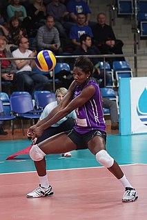 Kenia Carcaces Cuban volleyball player