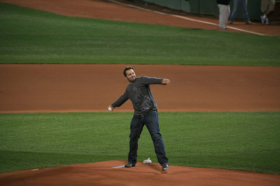 Kevin Millar throws out the first pitch