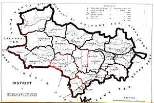 Khandesh district - Map (1896)