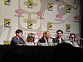 Kick-Ass panel - Christopher Mintz-Plasse, Chloë Grace Moretz, Nicolas Cage, Aaron Johnson, Clark Duke (4499363700).jpg