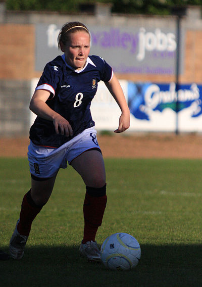 Little playing for Scotland, 2009 Kim little scotland.jpg