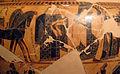 Kleitias e vasaio ergotimos, cratere françois, 570 ac ca. nozze di peleo e teti 2.JPG