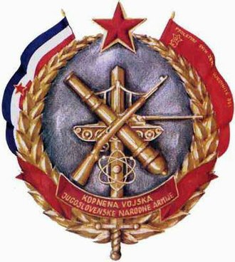 Koča Popović - Yugoslav Ground Forces emblem