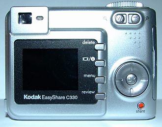 Kodak EasyShare C330 - Rear display