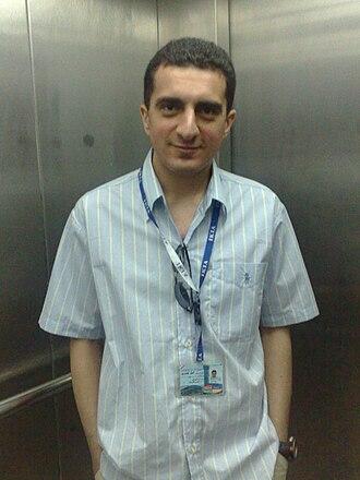 Komeil Bahmanpour - Komeil Bahmanpour at the IKA in Tehran, June 2009