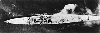 German cruiser Königsberg - Königsberg under attack at Bergen