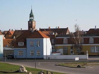 Slagelse Municipality - Image: Korsør vue mod Sankt Povls Kirke 1