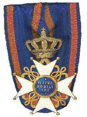 Order of the Netherlands Lion - Image: Kruis van een Ridder in de Orde van de Nederlandse Leeuw