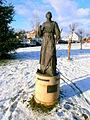 Krzeszów, pomnik cystersa - Ora et Labora -PC260658.JPG