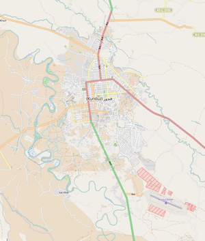 Kunduz - Image: Kunduz city map 01