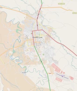 Kunduz - Image: Kunduz city map 01