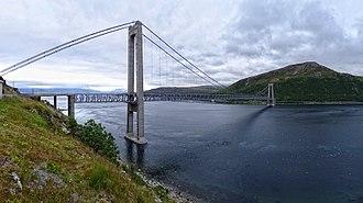 Kvalsund - View of the Kvalsund Bridge