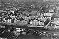 Légifotó Lágymányosról. A kép közepén a BEAC sporttelep, a későbbi Skála áruház helye, balra a Fehérvári út. Fortepan 18260.jpg